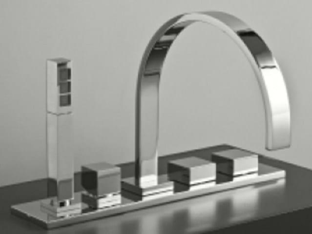 5 hole bathtub set with hand shower DREAM | 5 hole bathtub set by Signorini