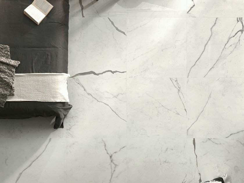 Porcelain stoneware flooring with marble effect DREAMING BIANCO STATUARIO by LEA CERAMICHE