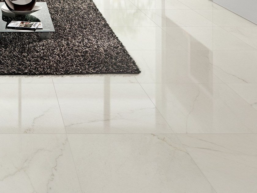 Porcelain stoneware flooring with marble effect DREAMING CRYSTAL WHITE by LEA CERAMICHE