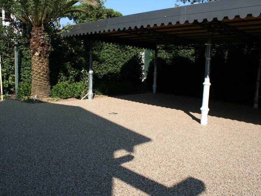 Pavimentazione decorativa per esterni permeabile drenatech