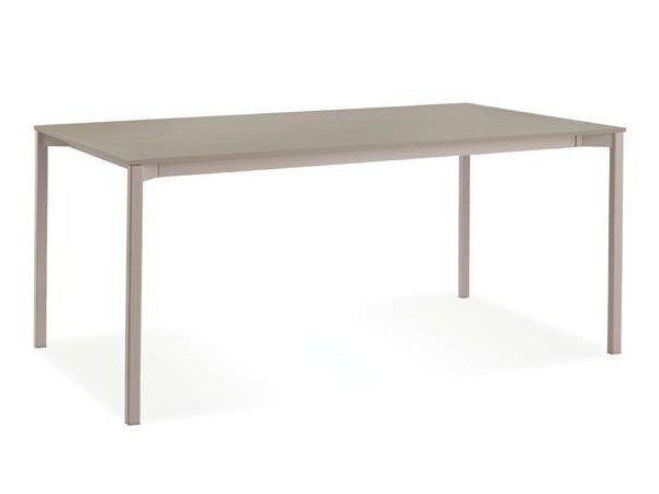 Extending lacquered rectangular table DRESS by CREO Kitchens