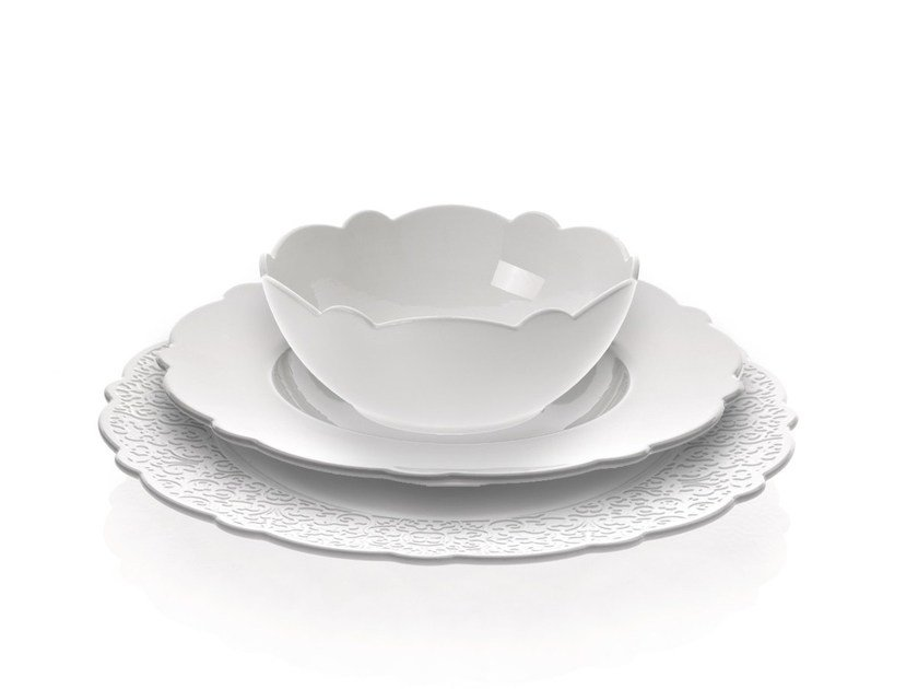 Porcelain plates set DRESSED | Plates set by Alessi