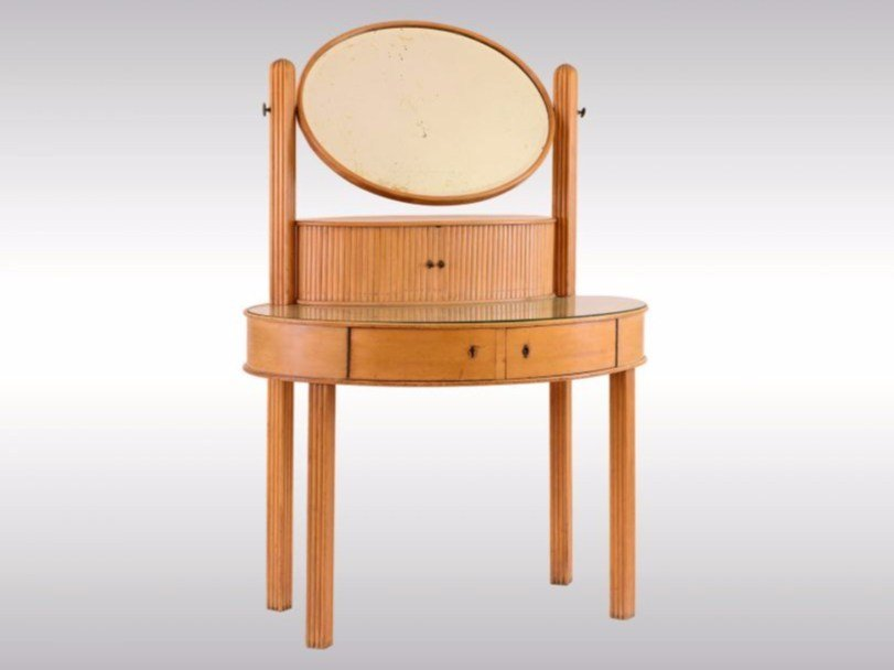 Wooden dressing table DRESSING TABLE by Woka Lamps Vienna