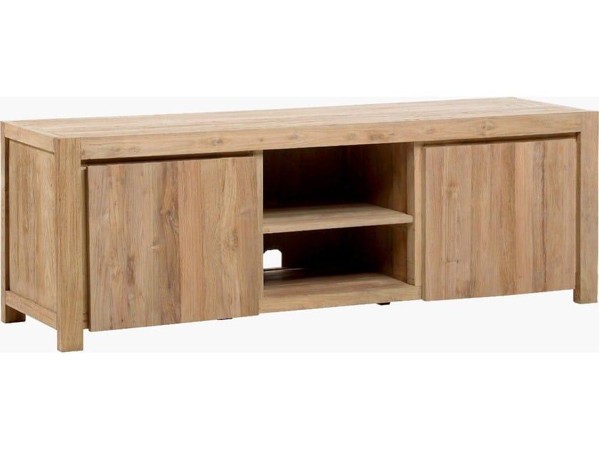 meuble tv bas en teck drift meuble tv by kok maison - Meuble Tv Bas Teck