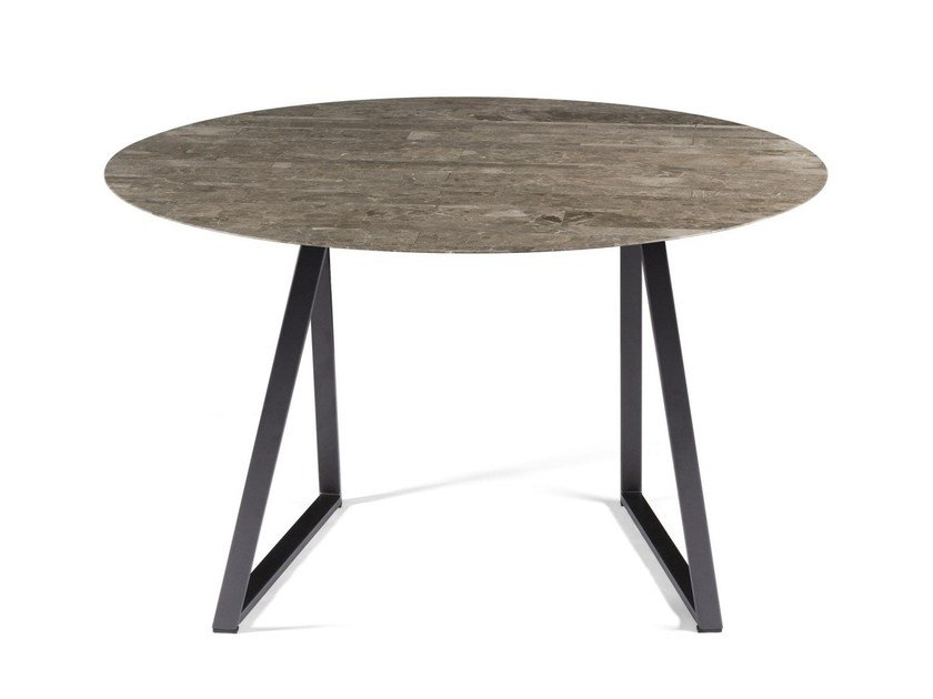 Round marble table DRITTO | Round table by SALVATORI