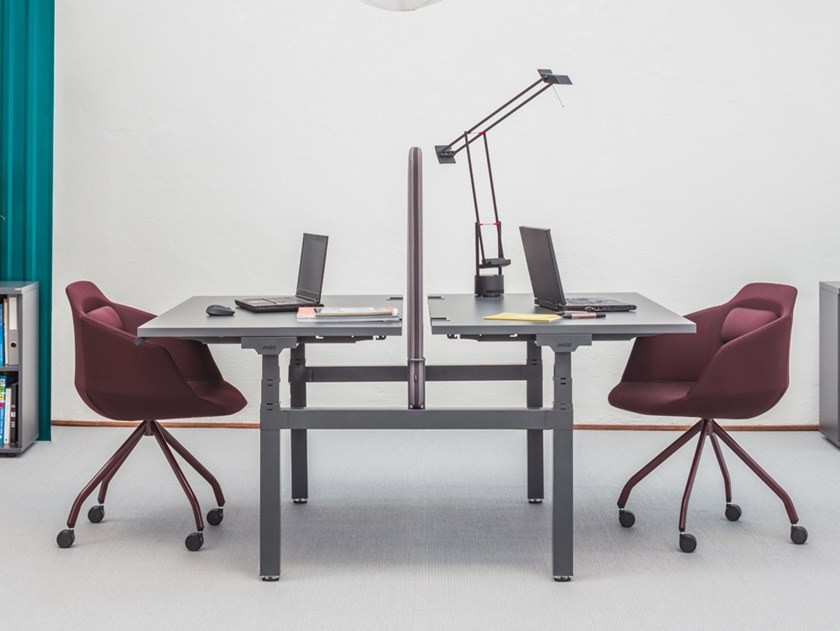 Multiple steel office workstation YAN DRIVE - BENCH by MDD
