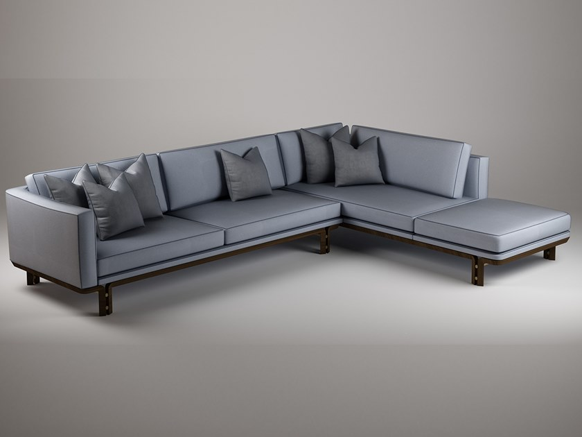 Corner leather sofa with chaise longue DROMO | Corner sofa by Paolo Castelli