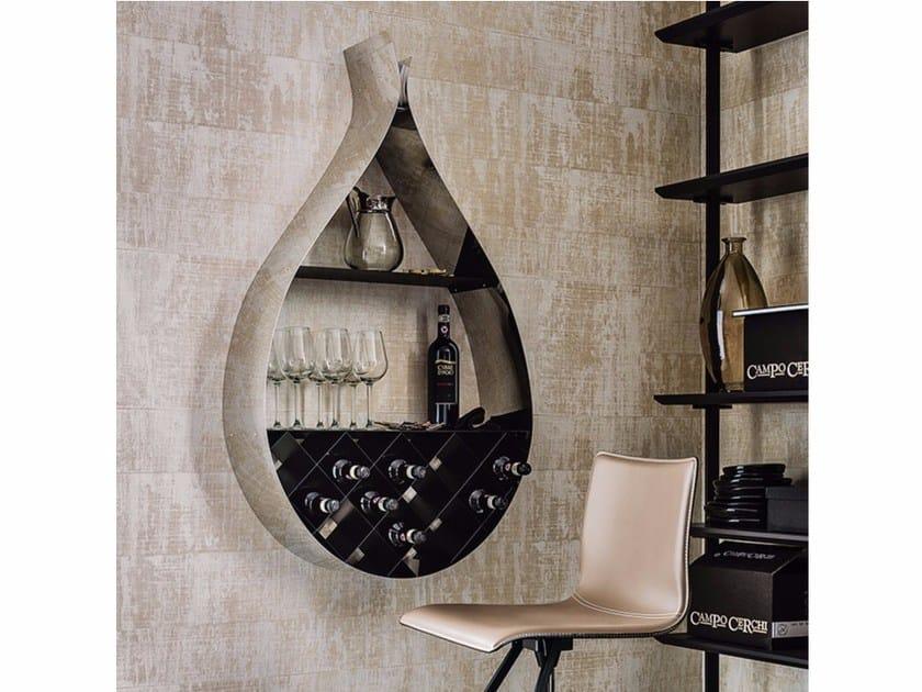 Wall-mounted steel bookcase DROP by Cattelan Italia