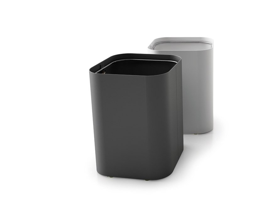 Steel waste paper bin DROP MINI by Systemtronic