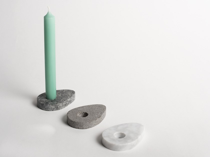 Natural stone candle holder DROPI | Candle holder by North Limited