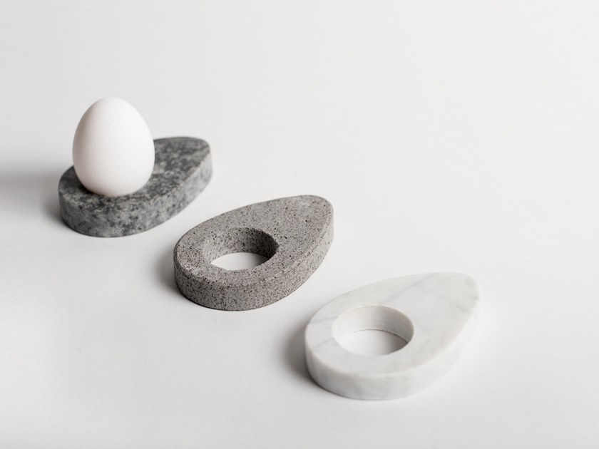 Natural stone egg cup DROPI | Egg cup by North Limited