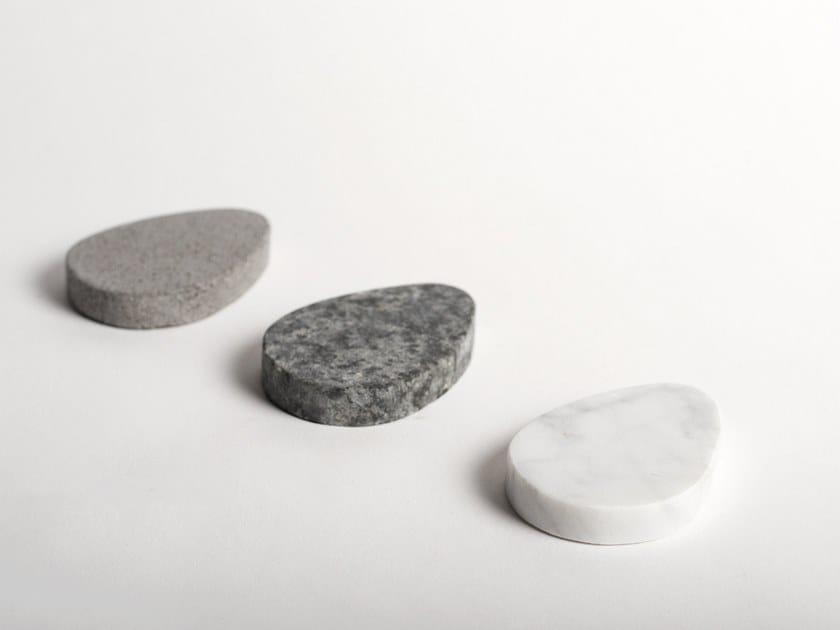 Natural stone trivet base DROPI by North Limited