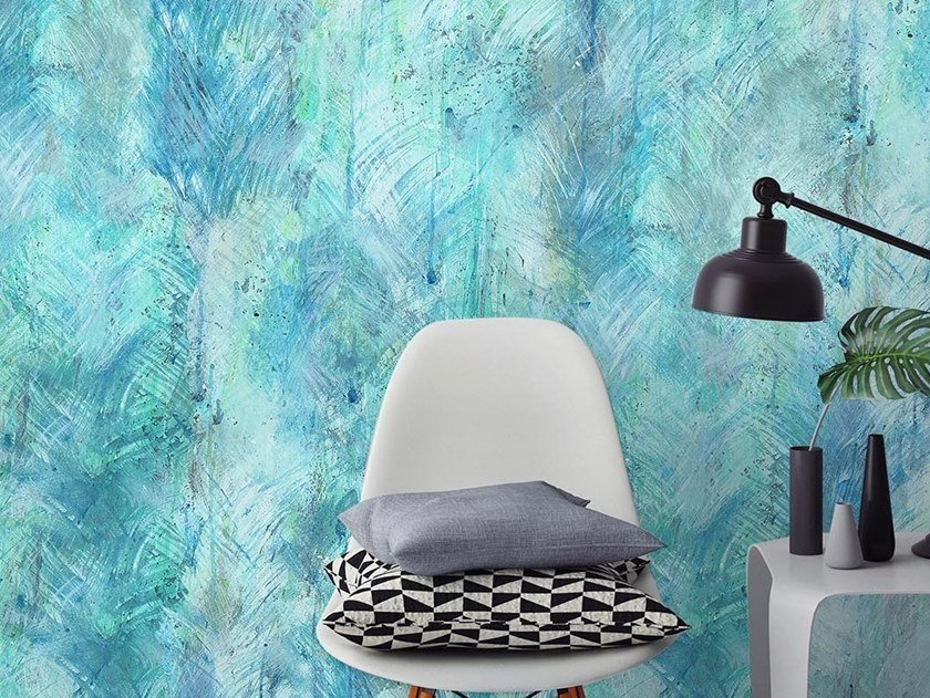 Tropical wallpaper, PVC free, eco, washable DROPS by Wallpepper Group