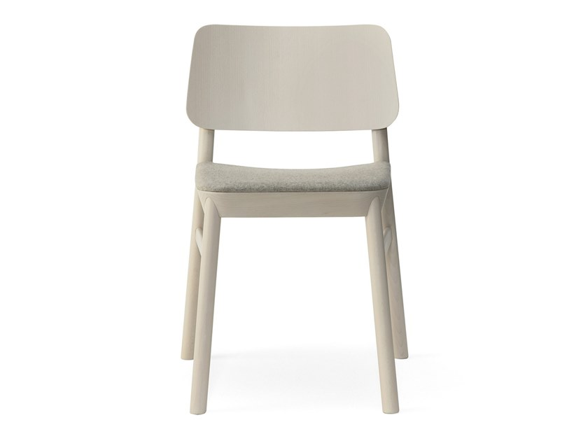 Beech chair with integrated cushion DRUM 071 by Billiani