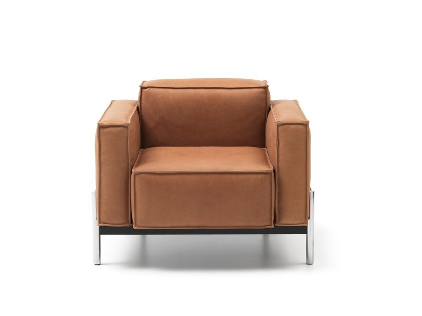 Leather armchair with armrests DS-21 | Armchair by de Sede
