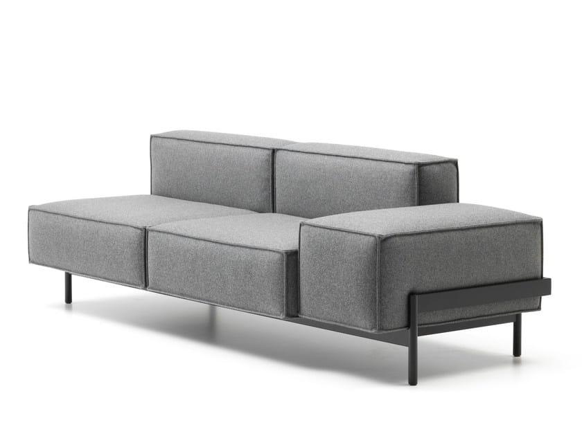 2 seater fabric sofa DS-21 | Fabric sofa by de Sede