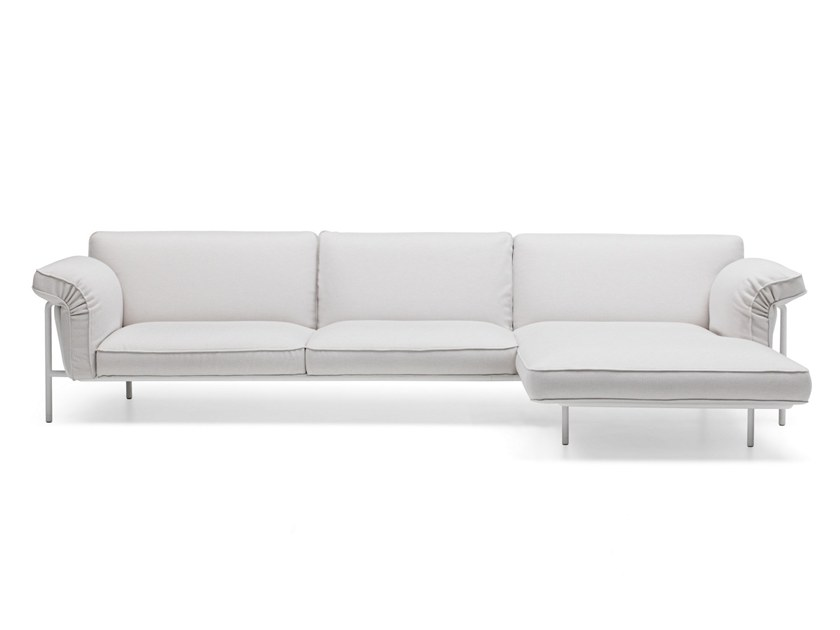 Sectional fabric garden sofa with chaise longue DS-610 | Fabric sofa by de Sede