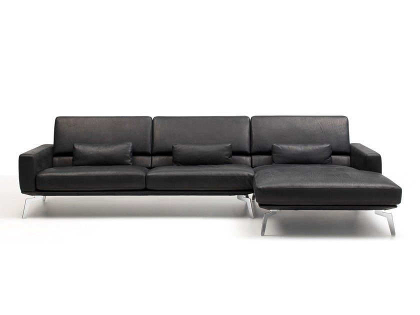 Sectional Leather Sofa With Chaise Longue Ds 87 By De Sede