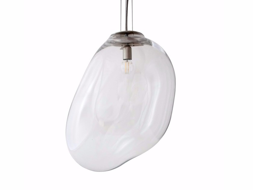 Direct light handmade blown glass pendant lamp DSCHUBBA | Pendant lamp by ELOA