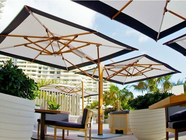 Offset double Garden umbrella PLANTATION MAX DUAL CANTILEVER by TUUCI