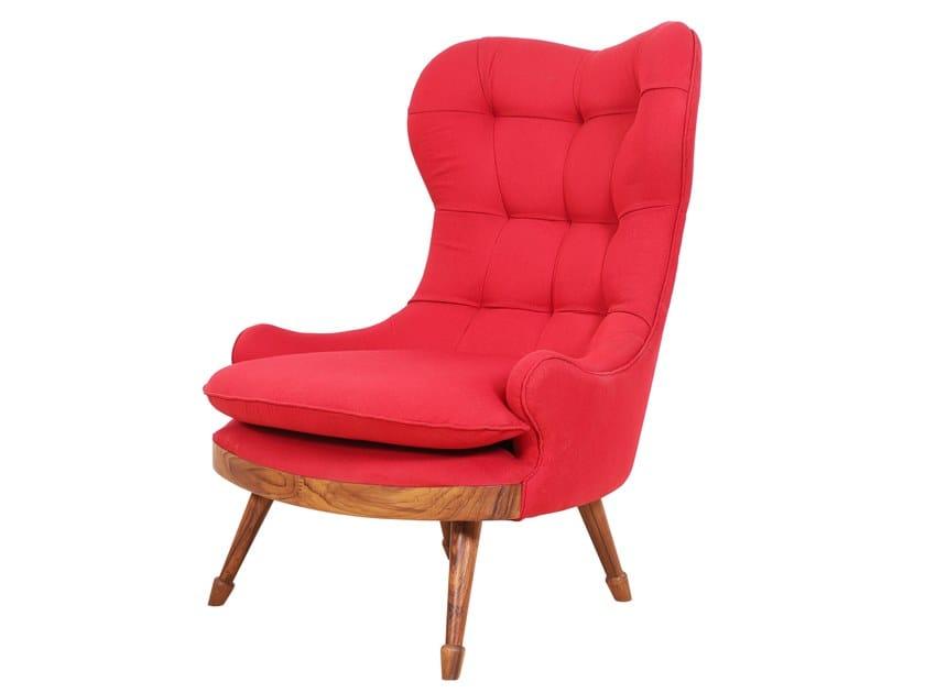 Wing fabric armchair DUBU by ALANKARAM