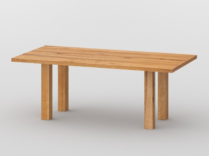 Rectangular solid wood table DUCK by Vitamin Design