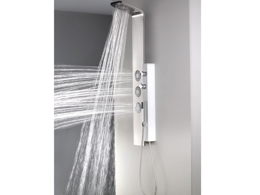 Columna de ducha de pared termostática con ducha DUE By Systempool