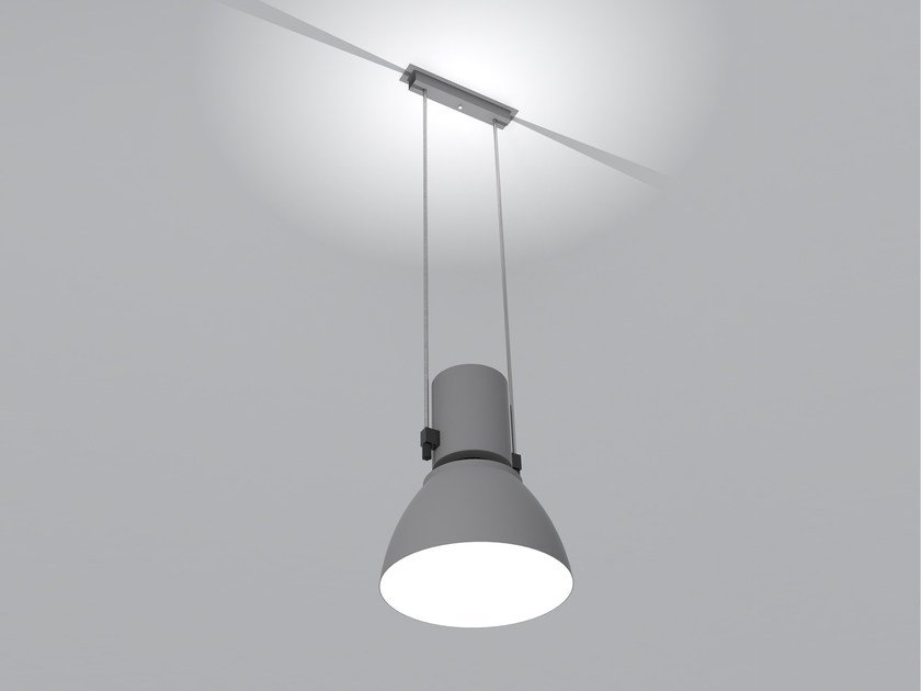 Aluminium pendant lamp with dimmer DUEMILATRE by Martinelli Luce