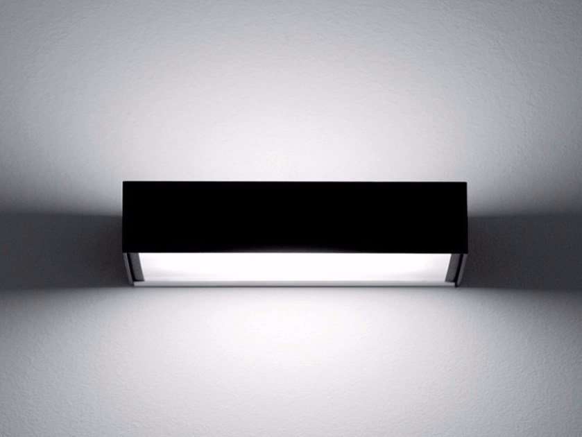 LED glass and metal wall lamp DUET by DAVIDE GROPPI