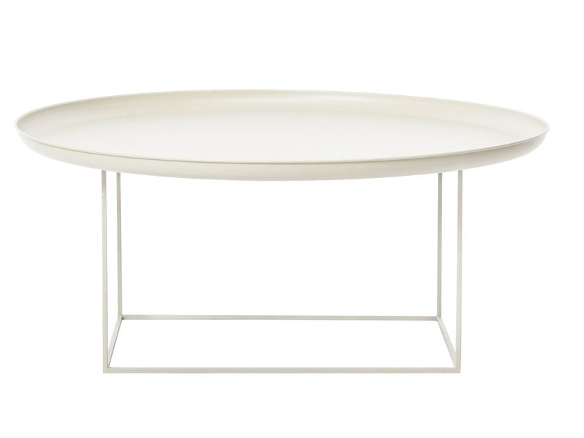 Round Metal Coffee Table With Tray DUKE LARGE By NORR11