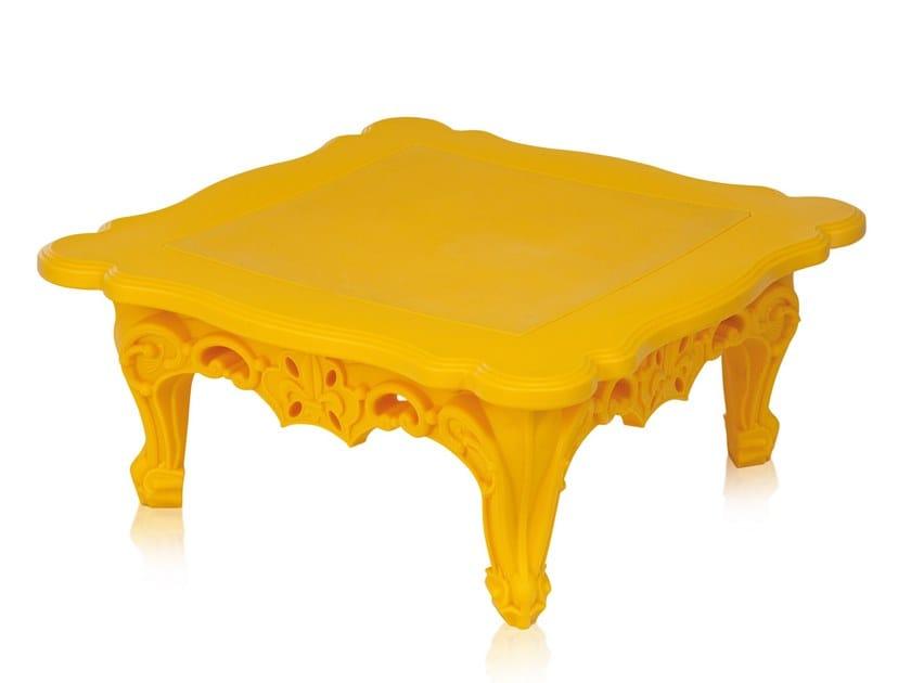 Square polyethylene coffee table for living room DUKE OF LOVE by SLIDE
