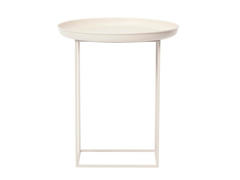 Round metal side table DUKE SMALL by NORR11