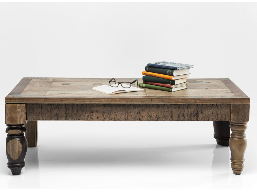 Rectangular solid wood coffee table DULD | Coffee table by KARE-DESIGN