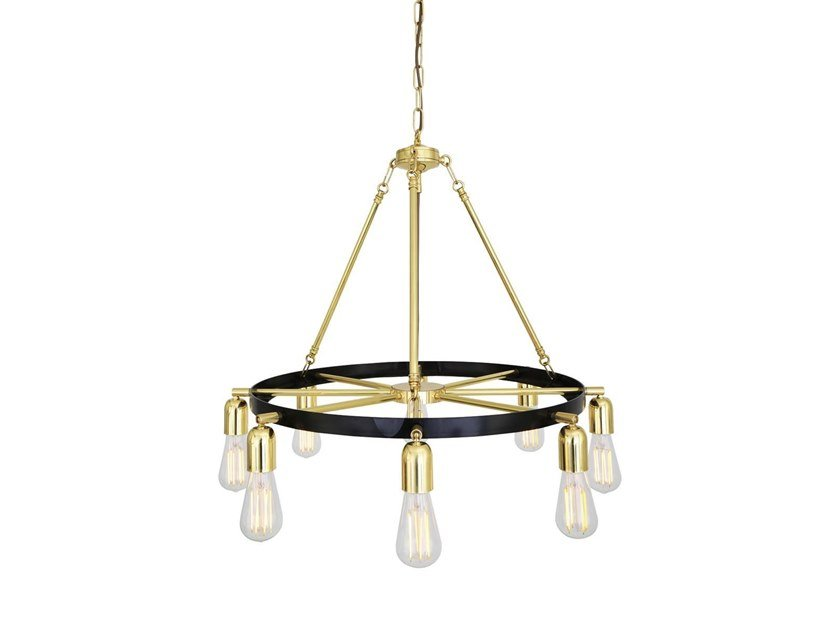 Brass chandelier DULEEK | Chandelier by Mullan Lighting