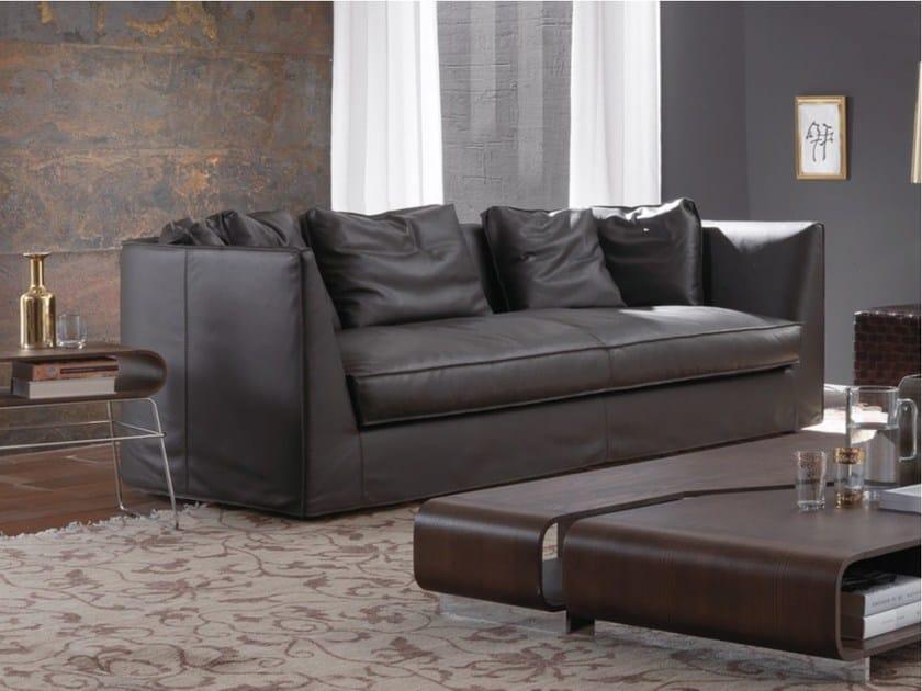 3 seater leather sofa DUNCAN | Leather sofa by Frigerio Salotti