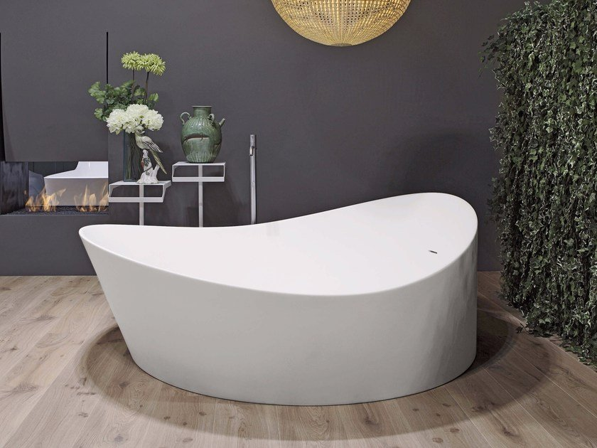 Freestanding Cristalplant® bathtub DUNE | Bathtub by Antonio Lupi Design