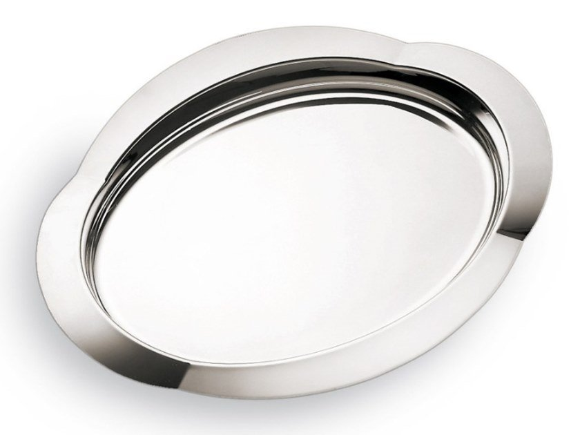 Oval silver plated tray DUNE | Tray by RINO GREGGIO ARGENTERIE