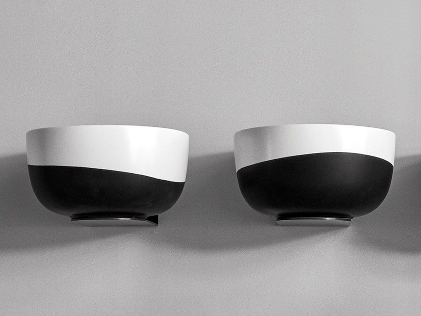 Round single ceramic washbasin DUO by Ceramica Cielo