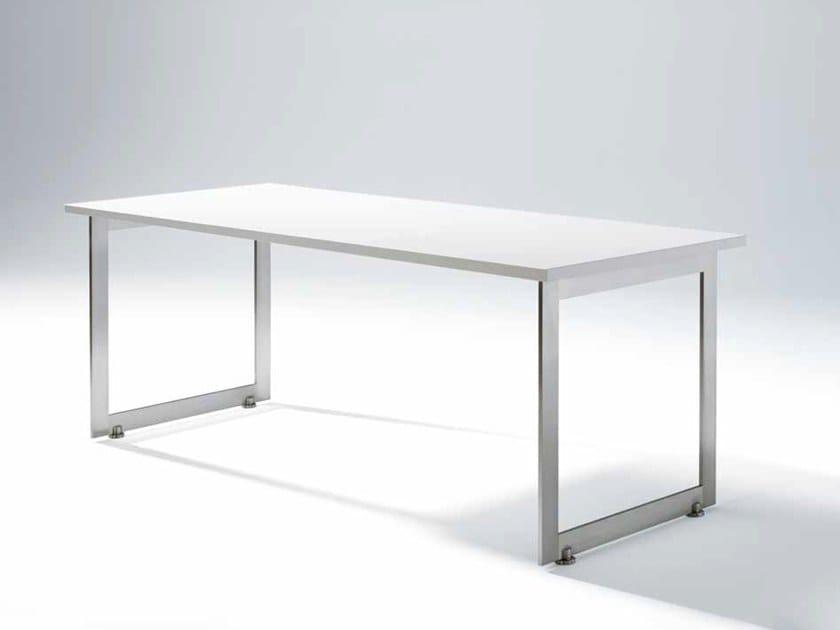 Rectangular wood veneer table DUO by Gamadecor