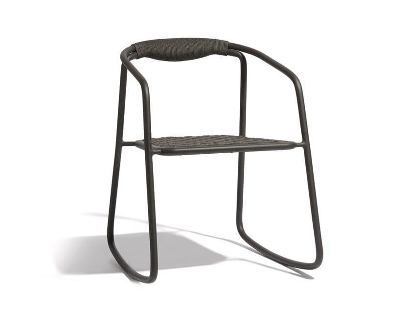 Rocking rope garden chair DUO | Rocking chair by MANUTTI