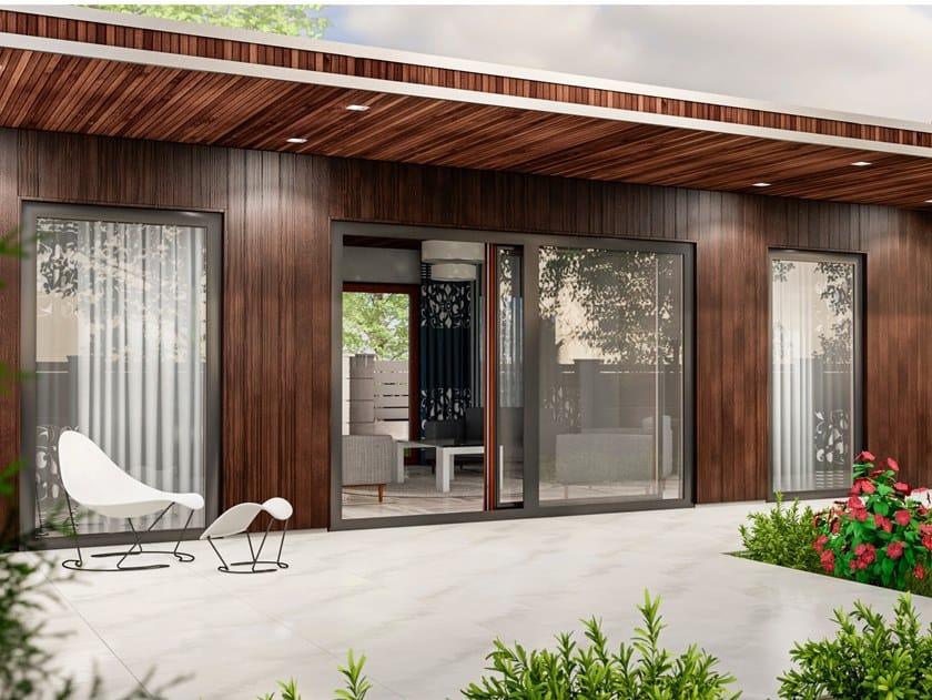 Aluminium and wood patio door DUOLINE PSK by Drutex