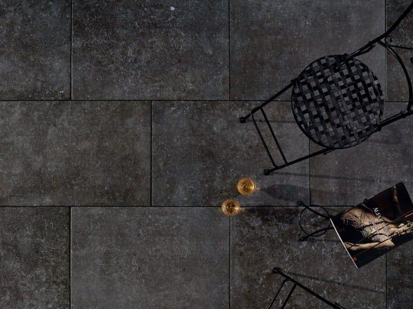 Outdoor floor tiles with stone effect DUOMO BLUESTONE NOIR by L'ALTRA PIETRA