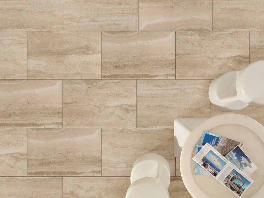 Outdoor floor tiles with travertine effect DUOMO TRAVERTINO BEIGE by L'ALTRA PIETRA