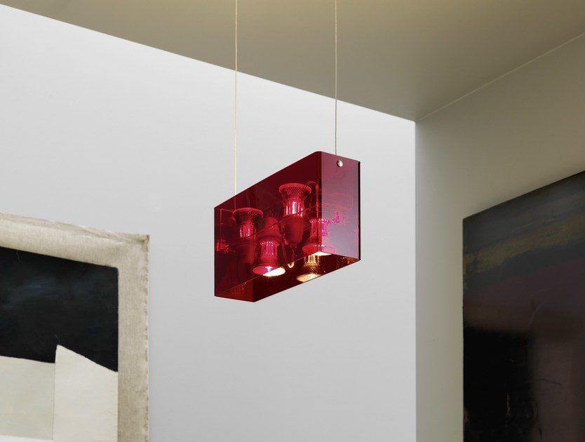 Methacrylate pendant lamp DUPLEX by FontanaArte