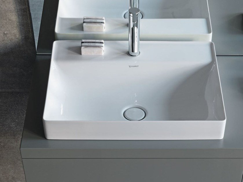 DURASQUARE | Countertop washbasin DuraSquare Series By Duravit