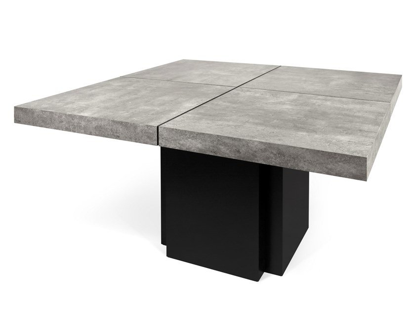 Square cement dining table DUSK | Cement table by TemaHome