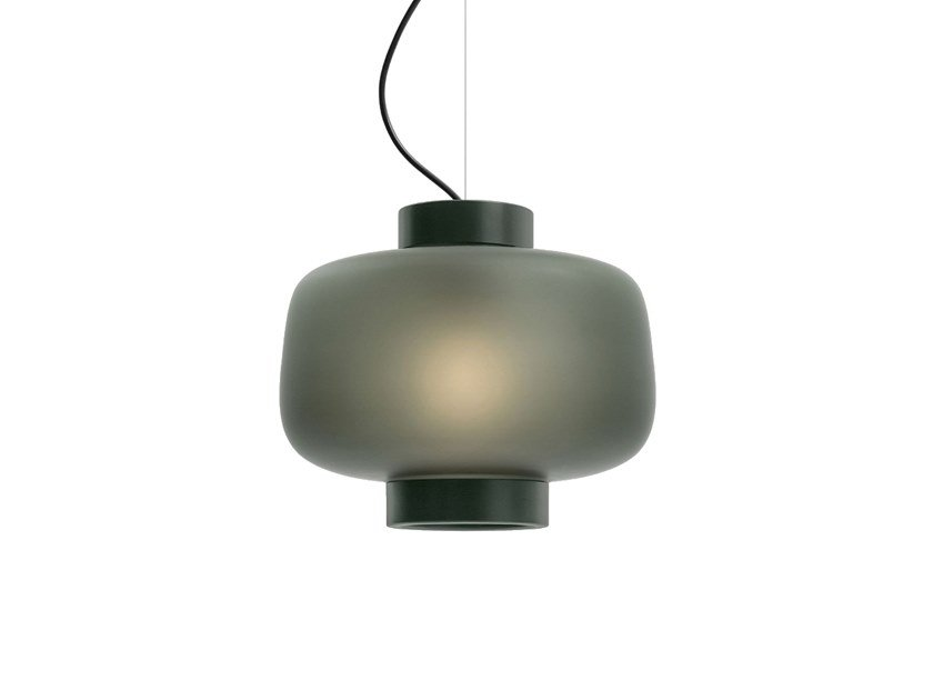 Blown glass pendant lamp DUSK by Hem
