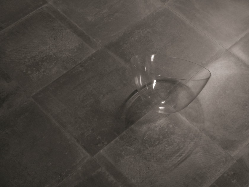 Porcelain stoneware wall/floor tiles with stone effect DUST BLACK by Provenza by Emilgroup