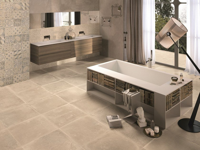 Porcelain stoneware wall/floor tiles with stone effect DUST SAND by Provenza by Emilgroup