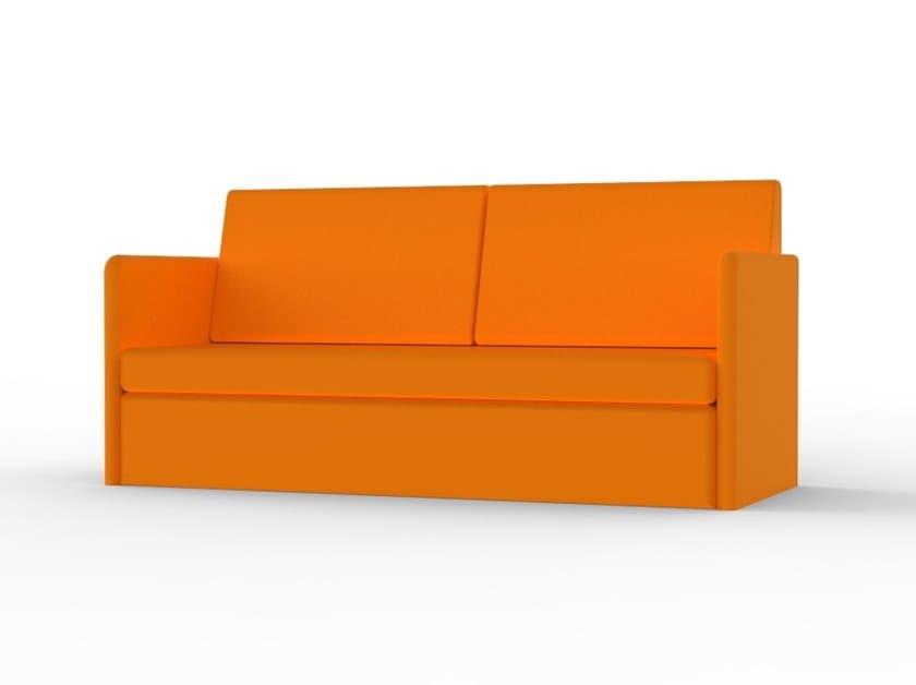 Sofá cama de ecopele ZEUS DV 16 by Mobilspazio